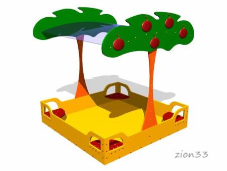 Детская песочница «Яблоня» эскиз