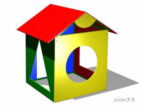 Детский игровой домик «Геометрия» эскиз
