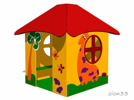 Детский игровой домик «Саванна» эскиз