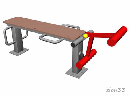 Тренажер уличный для мышц бедра эскиз