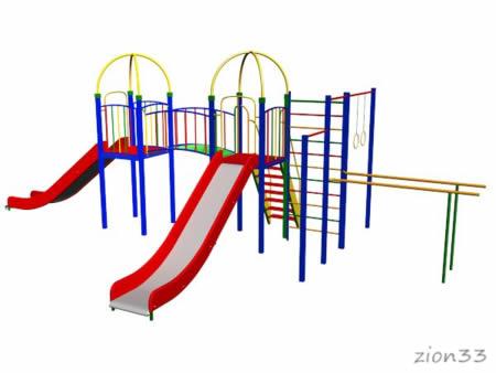 Эскиз детский игровой комплекс «Уссурийский тигр»