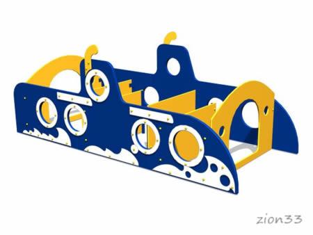 Лабиринт детский «Подводная лодка» эскиз