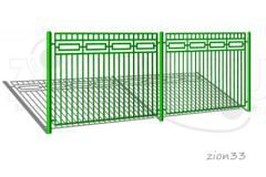 1.Забор металлический ОЗ-4