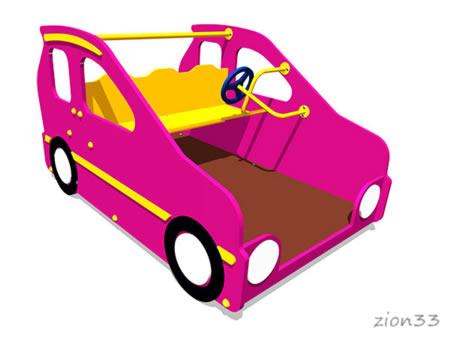 Игровой макет «Машинка Мини» эскиз