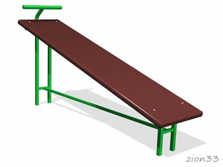Скамья гимнастическая наклонная эскиз