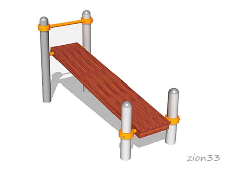 Скамейка для пресса наклонная ВА012 для ГТО и воркаута, эскиз