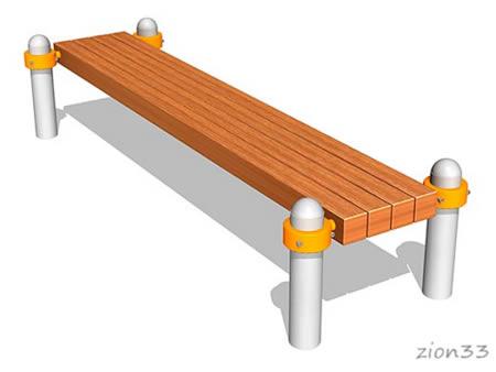 Скамья гимнастическая БВА2000 для спортивных площадок, эскиз
