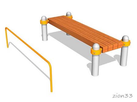 Скамья для пресса БВА2000-М1 для площадок ГТО эскиз