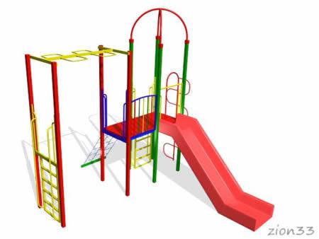 Детский игровой комплекс «Горная зебра» эскиз