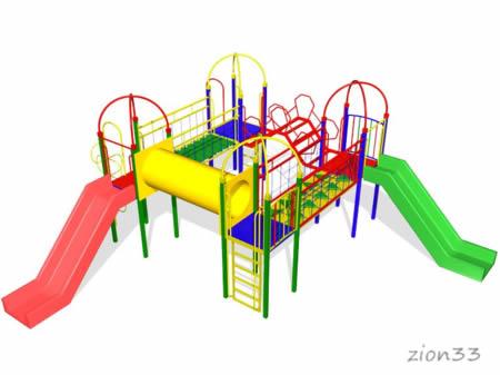 Детский игровой комплекс «Медовый барсук» эскиз