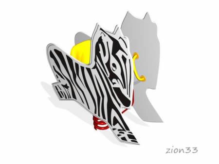 Качалка на пружине «Зебра» эскиз