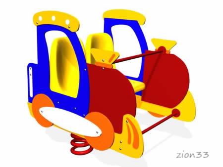 Качалка на пружине «Поезд» эскиз