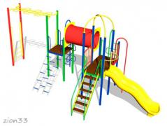 1.Детский игровой комплекс «Белый медведь»