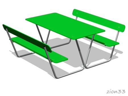 Стол уличный со скамьями М4 эскиз