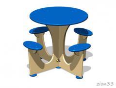 1.Стол уличный со скамьями М5