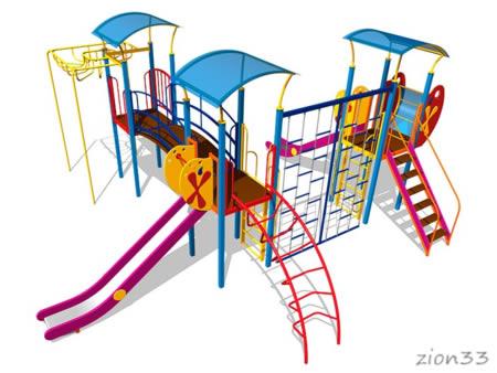 Детский игровой комплекс «Выдумка» эскиз