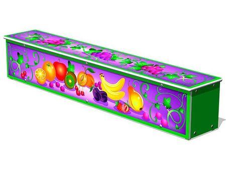 Ящик-скамья для теневых навесов «Фрукты» эскиз