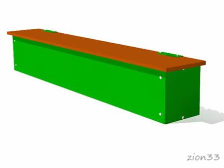 Ящик-скамья для теневого навеса эскиз