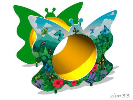 Лаз «Труба-Бабочка» эскиз
