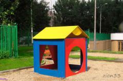 2.Детский игровой домик «Геометрия»
