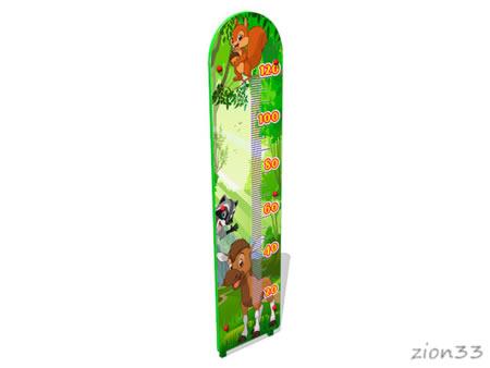 Ростомер детский уличный «Лесной мир М2» эскиз