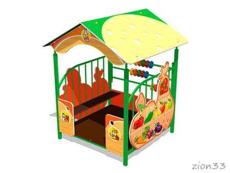 Детский игровой домик «Магазин У1» эскиз