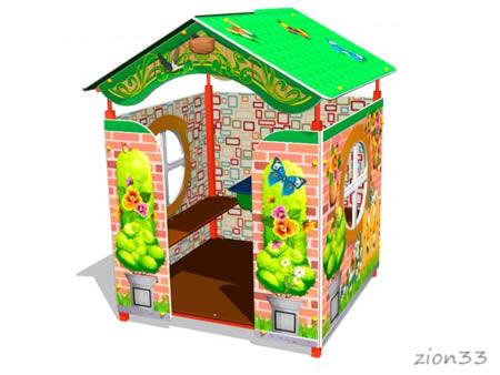 Детский игровой домик «Дача У1» эскиз