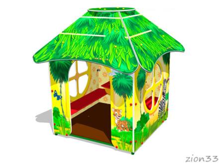 Детский игровой домик «Саванна У1» эскиз