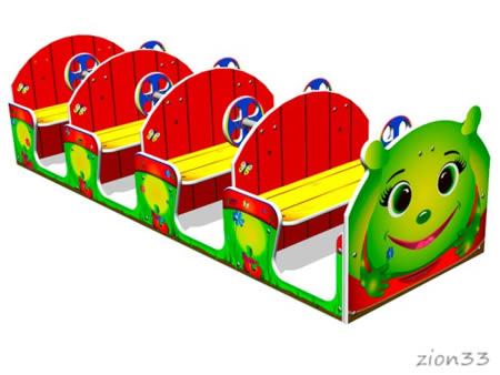 Игровой макет «Машинка Гусеничка» эскиз