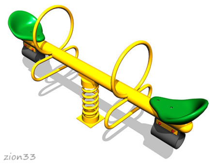 Качалка-балансир на пружине «Стрела» эскиз