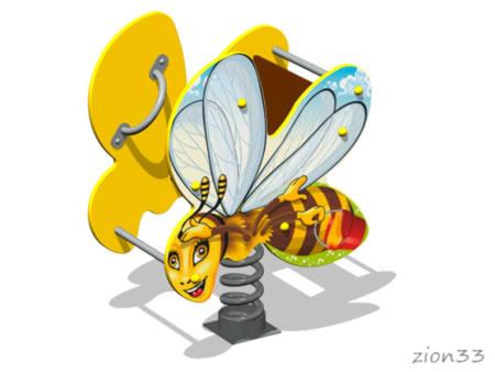Качалка на пружине «Пчелка У1» эскиз