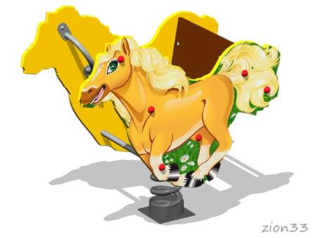 Качалка на пружине «Лошадка У1» эскиз