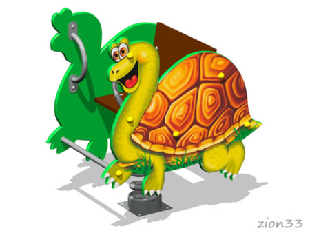 Качалка на пружине «Черепаха У1» эскиз