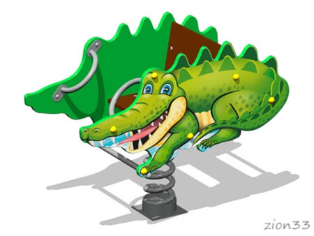 Качалка на пружине «Крокодил У1» эскиз