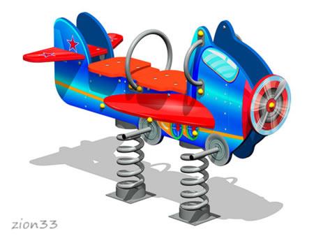 Качалка на пружине «Аэроплан У1» эскиз