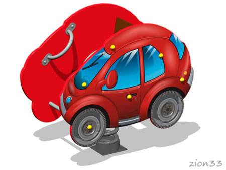 Качалка на пружине «Автомобиль У2» эскиз