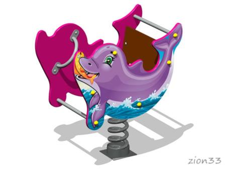 Качалка на пружине «Дельфин У2» эскиз