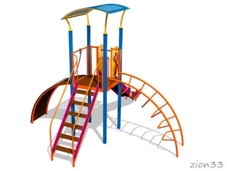 Детский игровой комплекс «Затея» эскиз