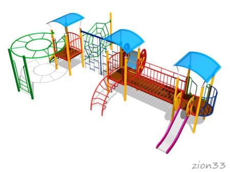 Детский игровой комплекс «Легенда» эскиз