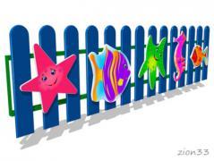 1.Ограждение детской площадки «Море»