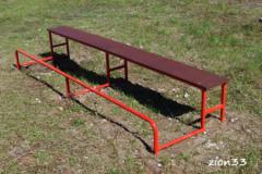 2.Скамья гимнастическая с упором для ног СЭ052