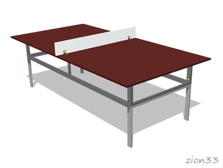 Теннисный стол (из ламинированной фанеры) эскиз