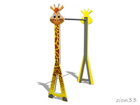 Турник детский «Жираф» эскиз