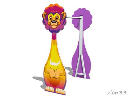 Турник детский «Лев» эскиз
