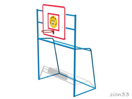 Ворота футбольные «Карапуз 2» эскиз