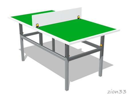 Теннисный стол М3 (детский) эскиз
