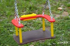 1.Сидение для качелей со спинкой и цепями