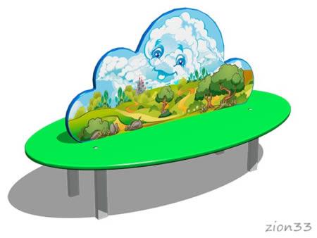 Скамейка детская «Облако» эскиз