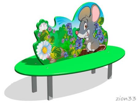 Скамейка детская «Мышонок» эскиз