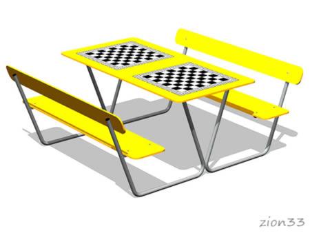 Стол шахматный М3 эскиз